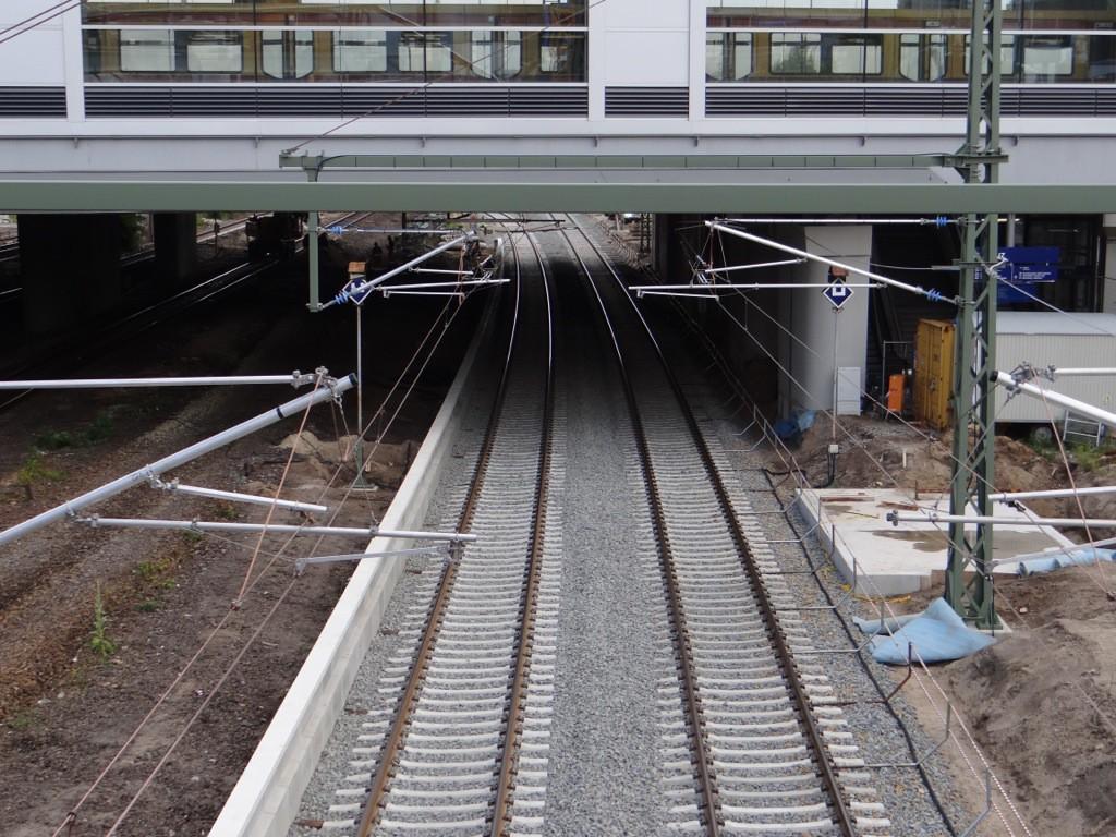 Der untere Regionalbahnsteig kann gebaut werden