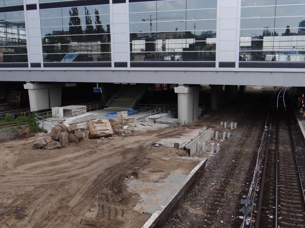 Das östliche Ende des Bahnsteigs D