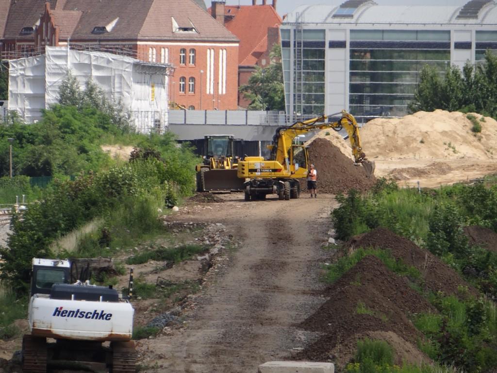 Die alte Rampe zum ehemaligen Bahnsteig A