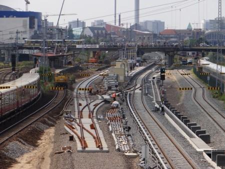 Gleisvorfeld an der Warschauer Straße