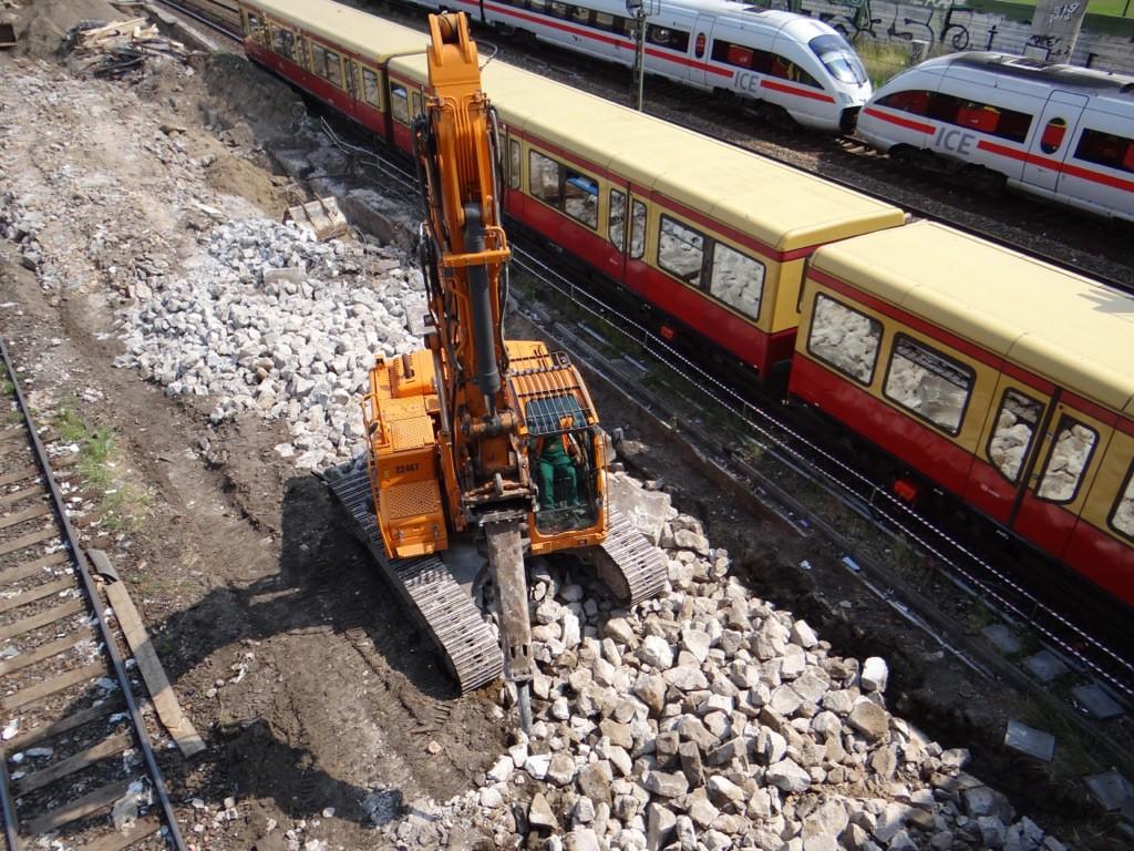 Abriss eines Betriebsgebäudes