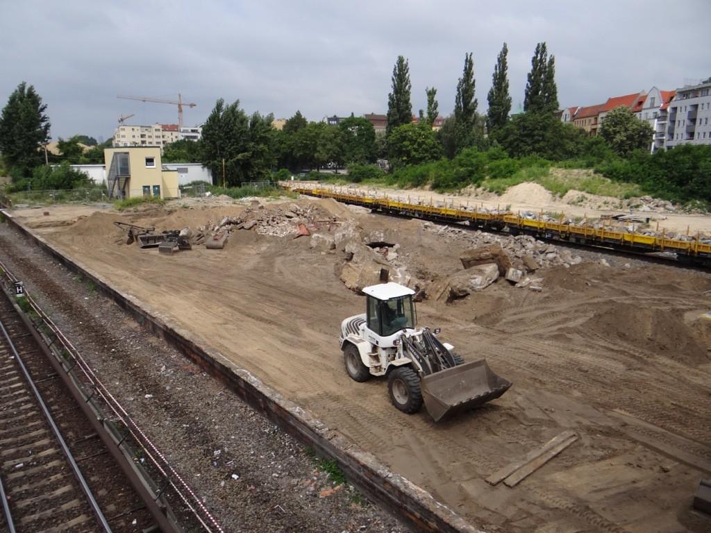 Der westliche Teil des Bahnsteig D