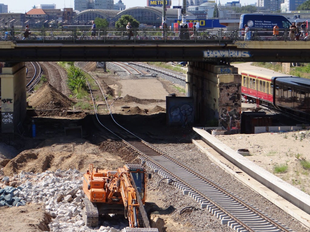 Gleisplanum des zweiten S-Bahngleises