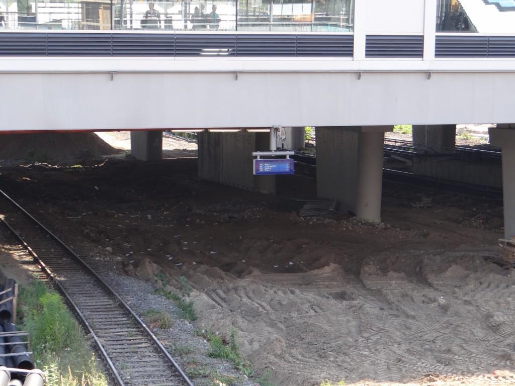 Display mit Fahrzielen der Ringbahn