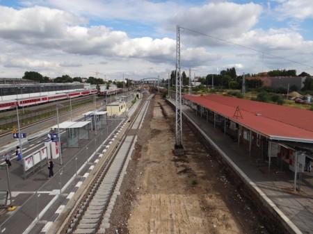 Beräumte Gleistrasse Warschauer Straße