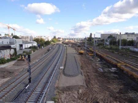 Schotter für die neue S-Bahntrasse