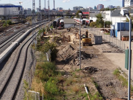 Bauarbeiten im DB-Nachtzugwerk