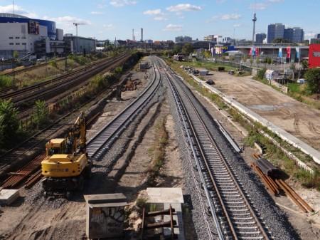 Westliches Gleisvorfeld der Warschauer Straße