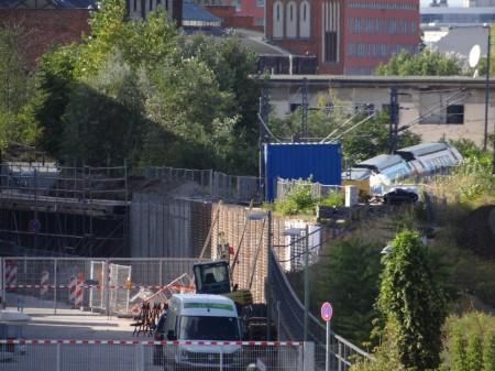Sanierung der Stützwand an der O2-World