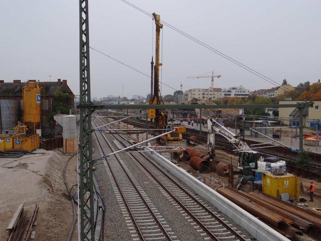 Arbeiten bei laufendem Bahnbetrieb