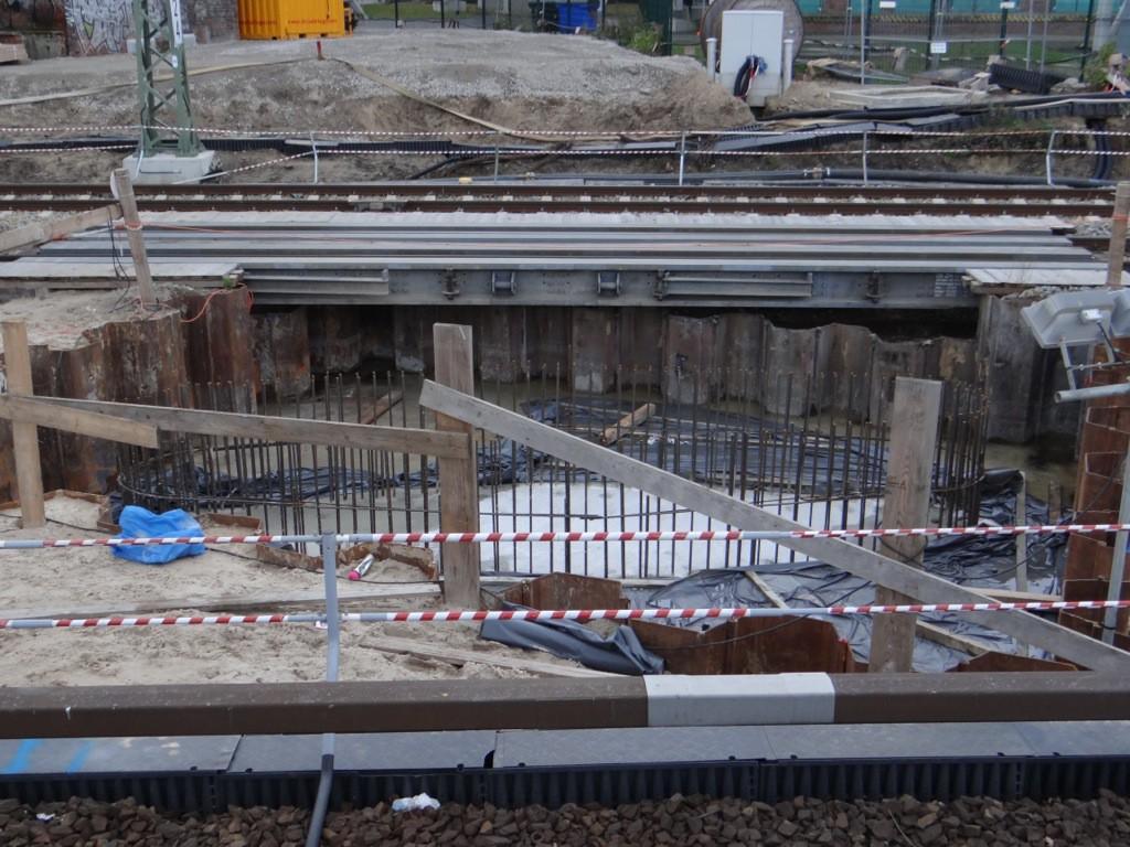 Fertiges Fundament für Brückenpfeiler