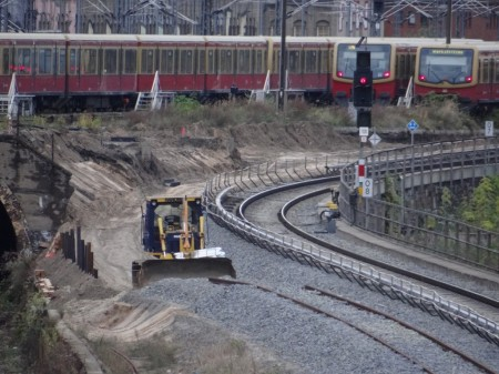 Neues S-Bahngleis Ostbahnhof - Warschauer Straße