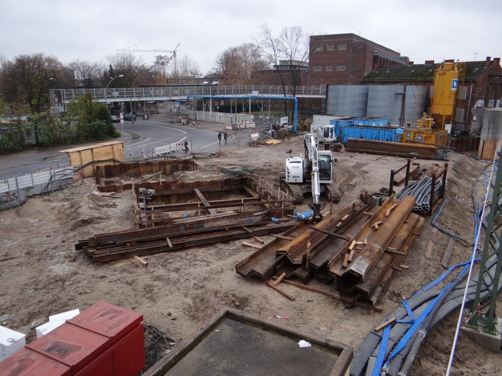 Baugruben für Brückenpfeiler