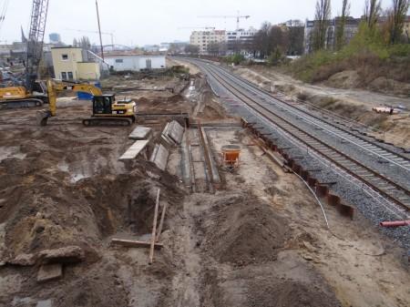 Gleistrasse Bahnsteig D