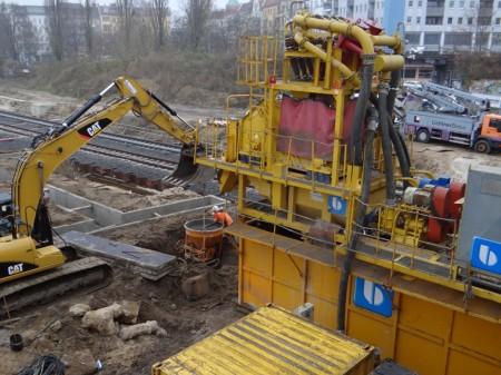 Separieranlage für die A100 Baustelle