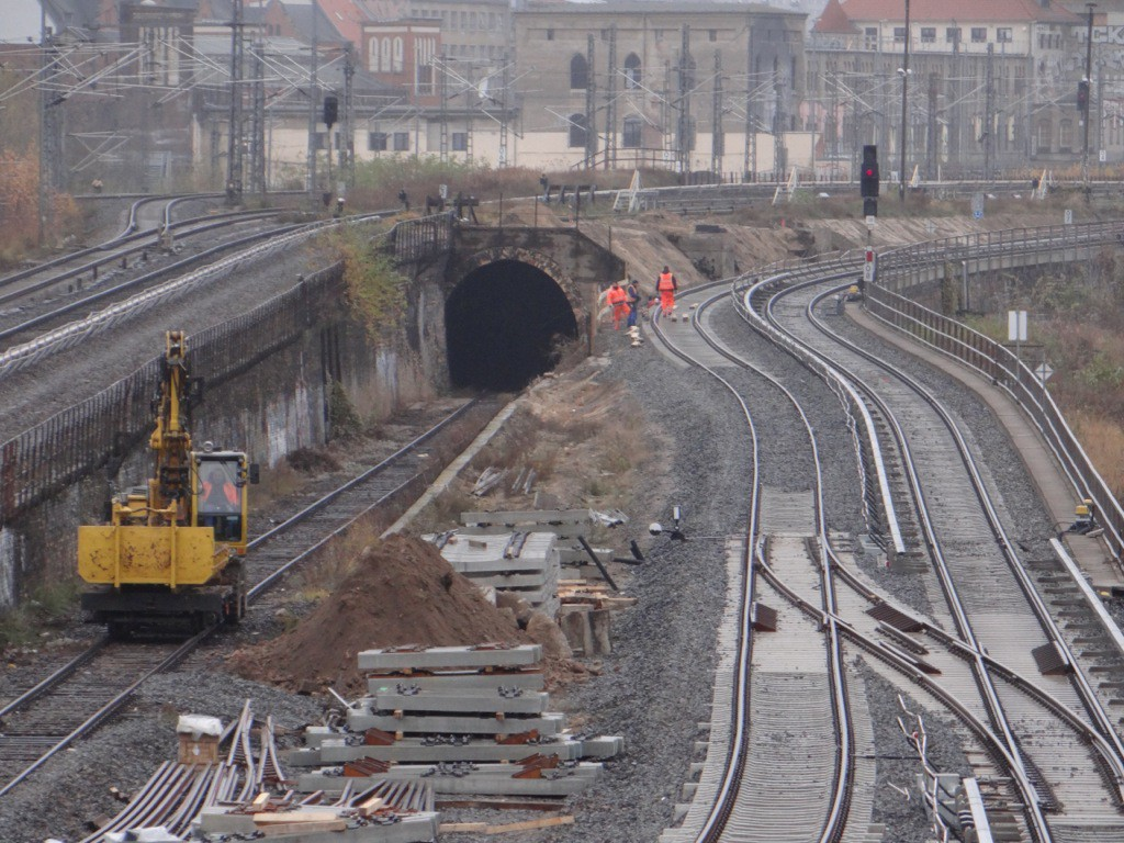 Gleise zwischen Warschauer Straße und Ostbahnhof
