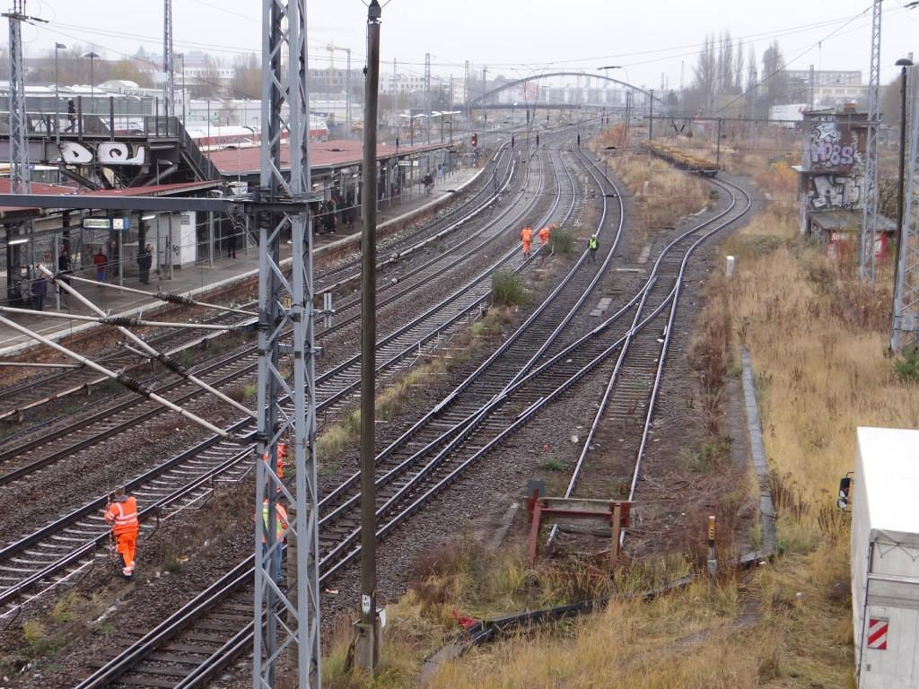 Vorbereitung für Arbeiten an der Fernbahn