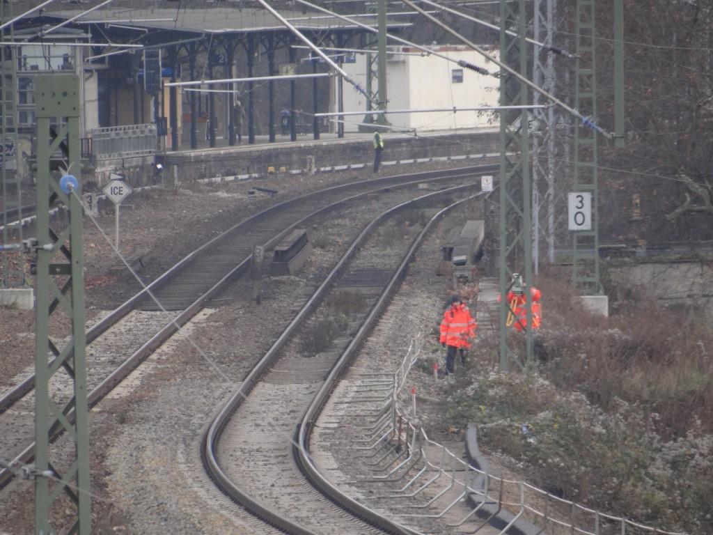 Vermessungsarbeiten für die Fernbahntrasse