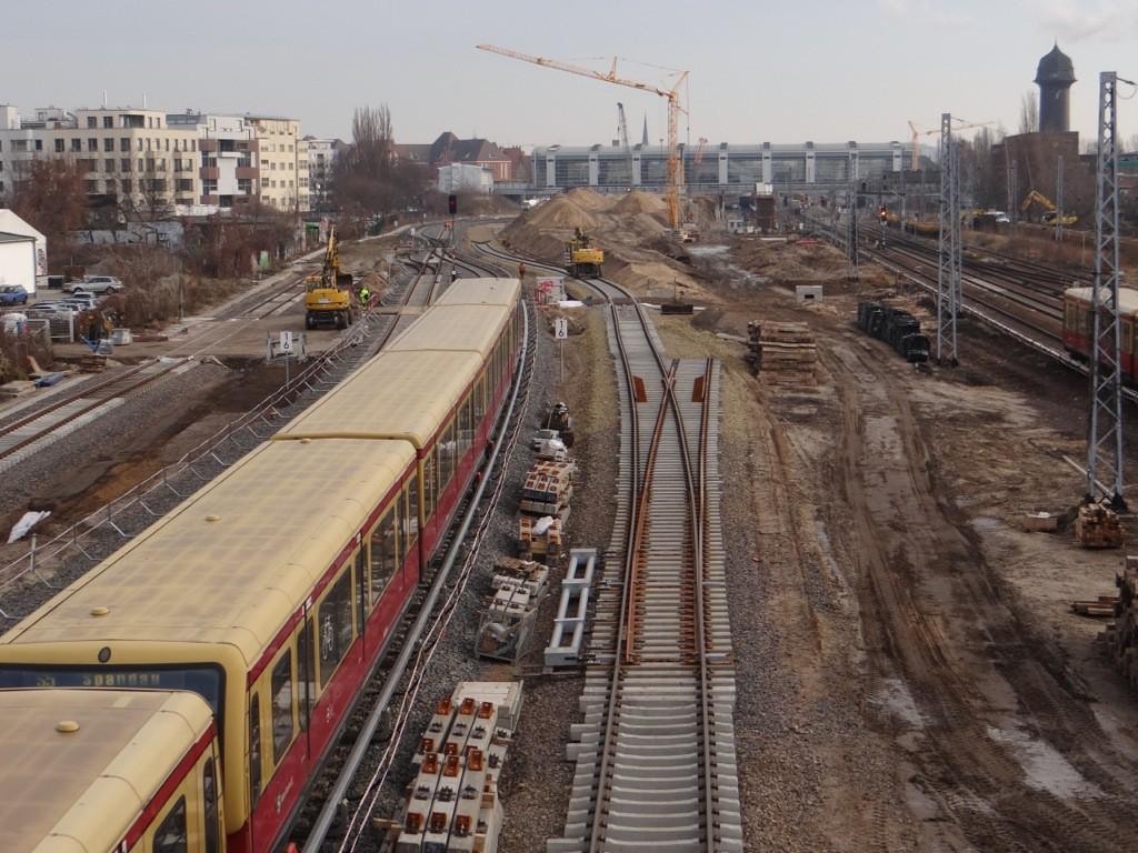 Gleisbau für das zweite S-Bahngleis