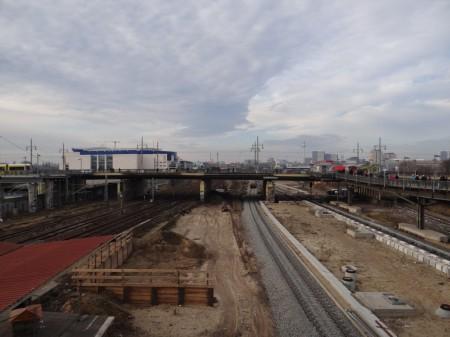 Das zweite S-Bahngleis wurde geschottert