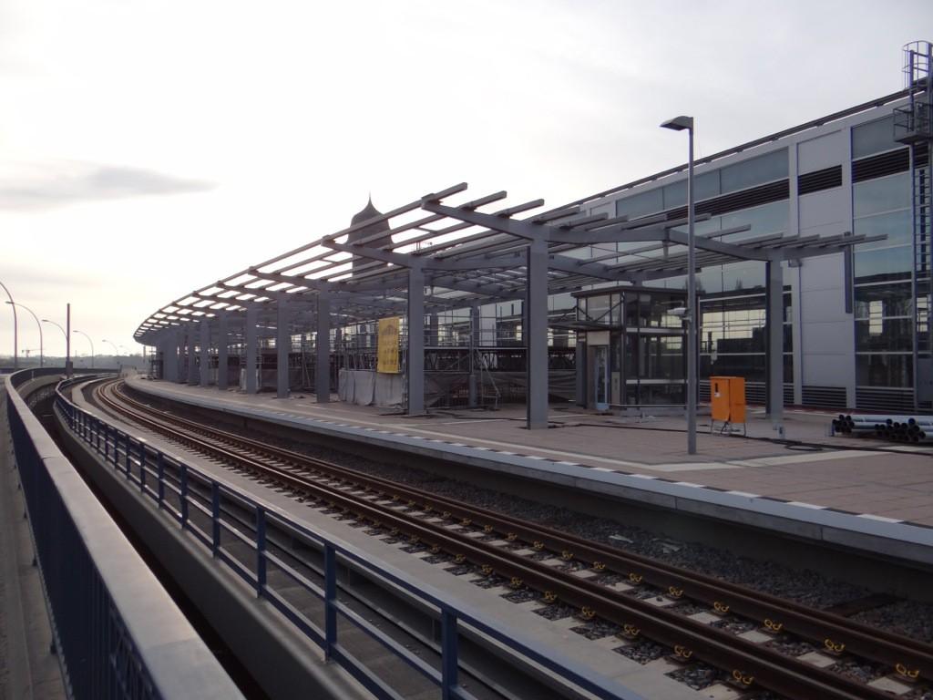 Der obere Regionalbahnsteig