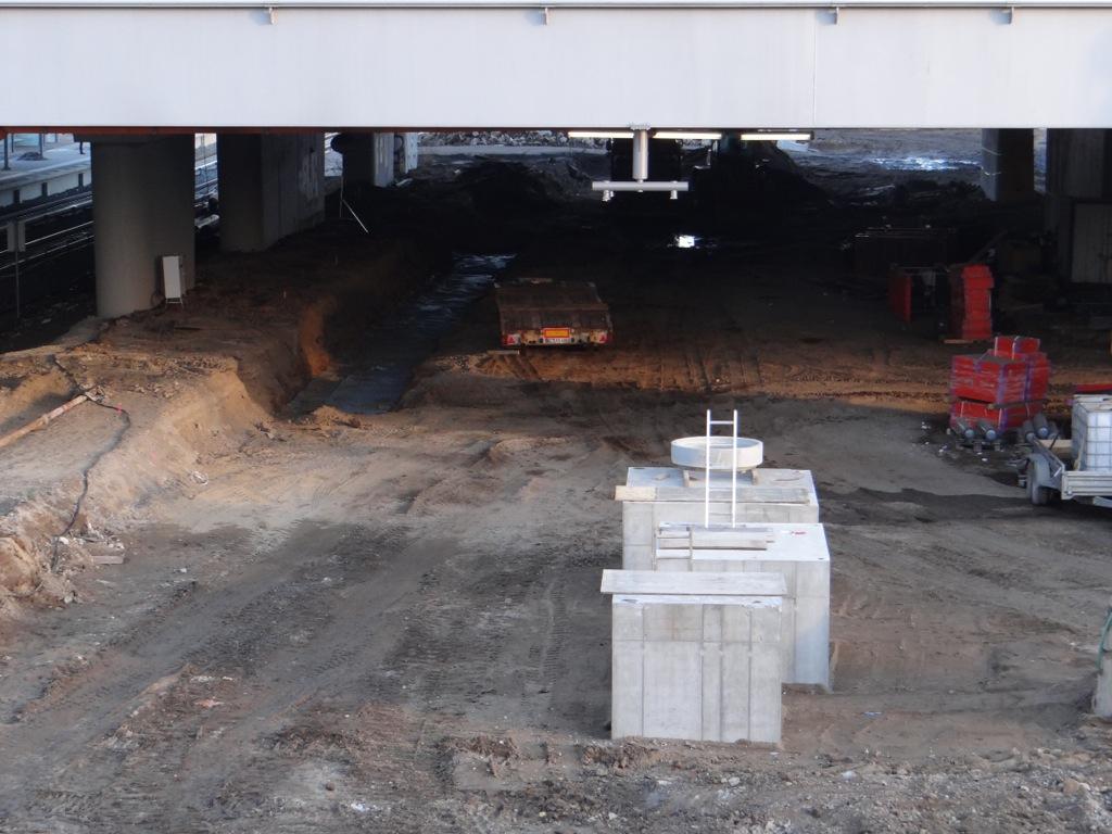 Bereich des Bahnsteig D unter der Ringbahn