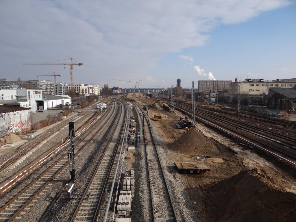 Gleisanlage zwischen Ostkreuz und Warschauer Straße