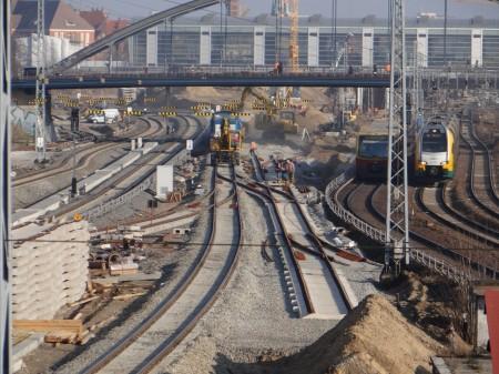 Gleisanlagen zwischen Ostkreuz und Warschauer Straße
