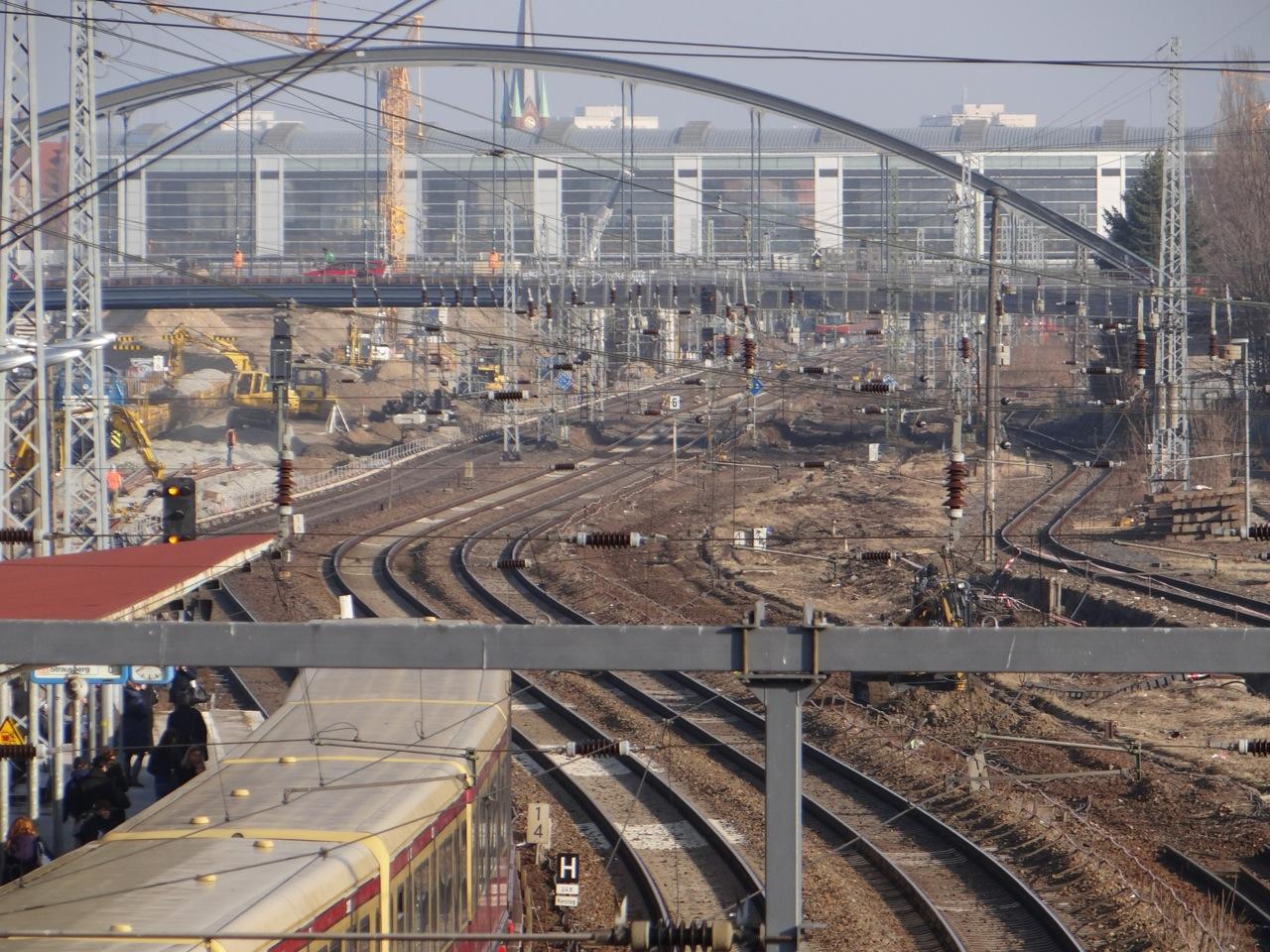 Neunbau der Fernbahngleise an der Warschauer Straße