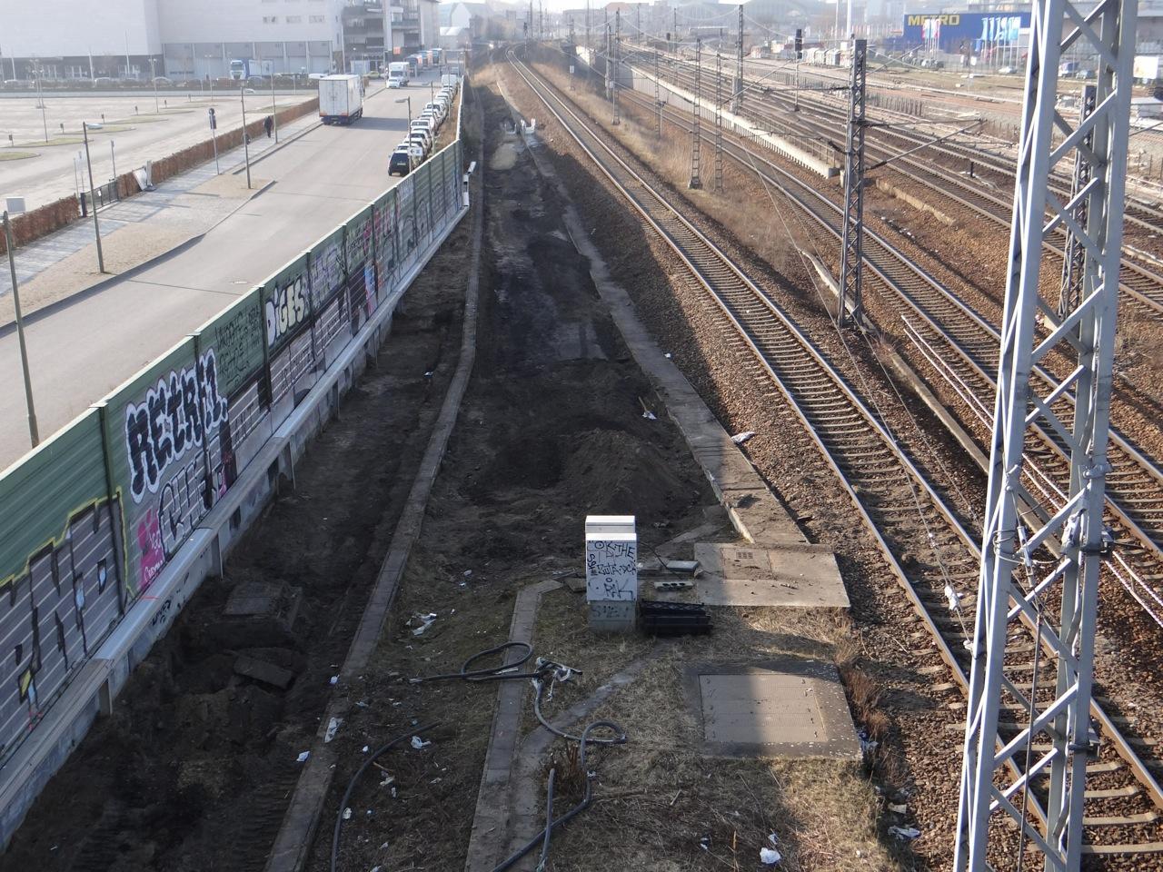 Neubau Kabelkanal westlich der Warschauer Brücke