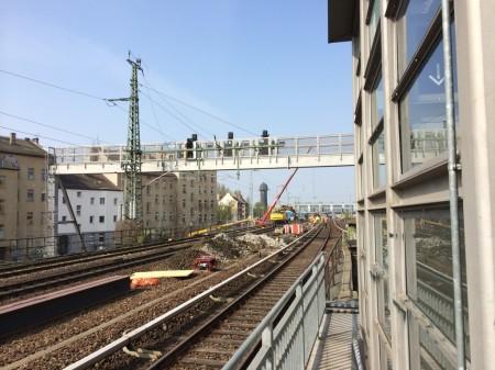 Gründungsarbeiten für Masten der Oberleitung