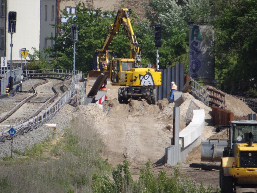 Bauarbeiten an der Ostbahn