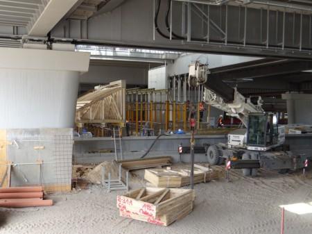 Treppenbau Bahnsteig D
