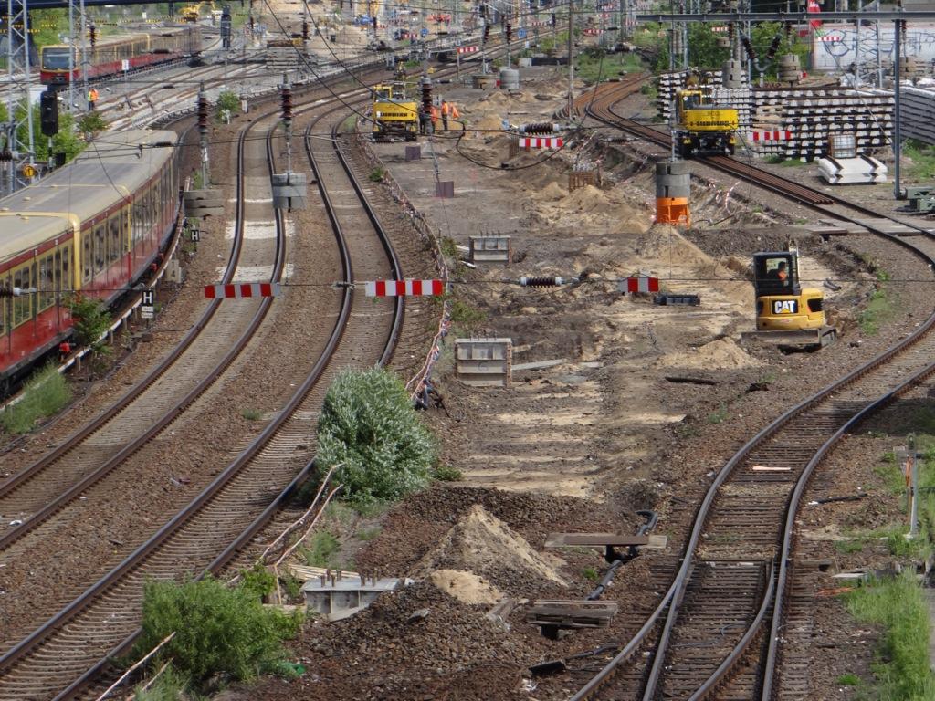 Neue Oberleitung Warschauer Straße