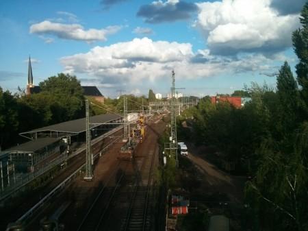 Arbeiten an der Oberleitung in Rummelsburg