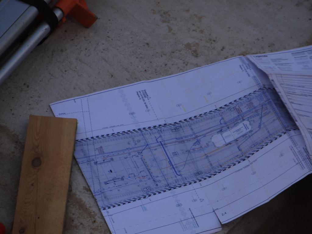 Bauplan Bahnsteig D