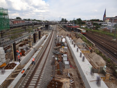 Fundamente Bahnhof Warschauer Straße