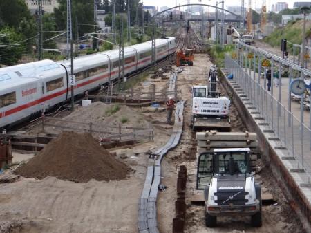 Brückenpfeiler Verbindungskurve