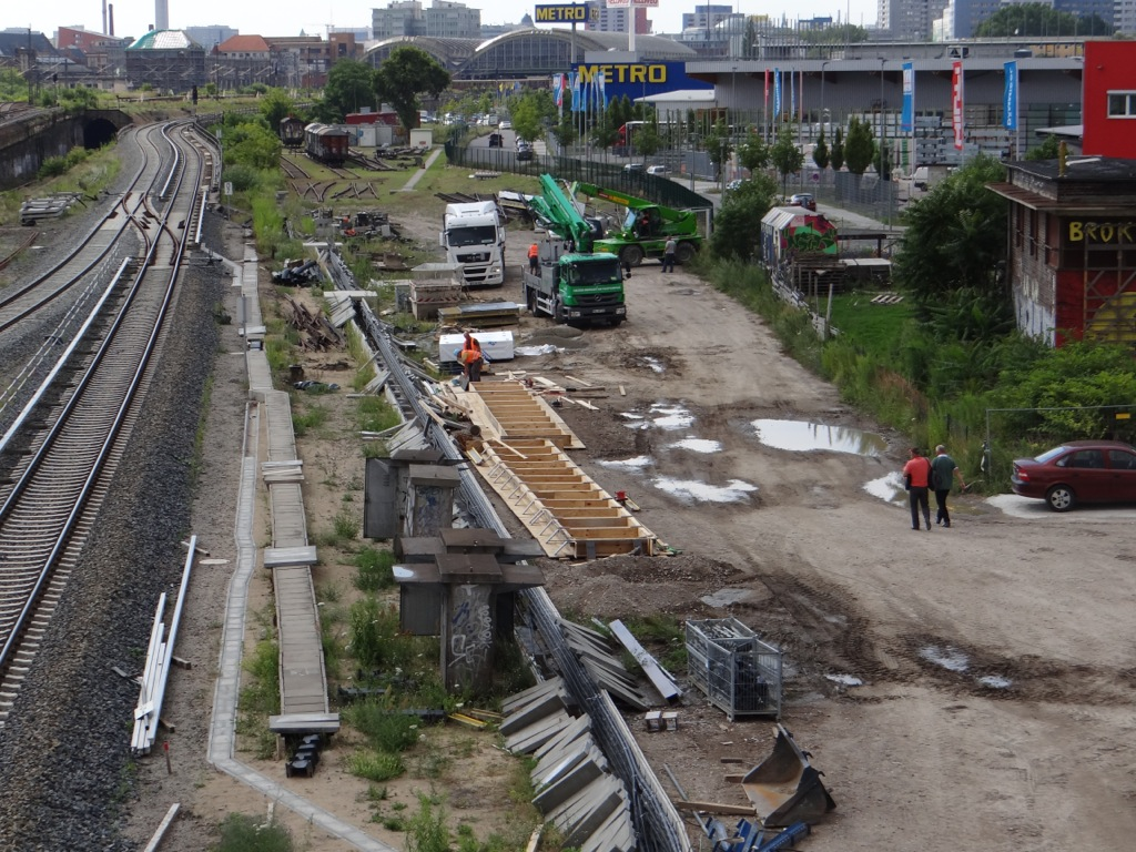 Westlich Warschauer Brücke