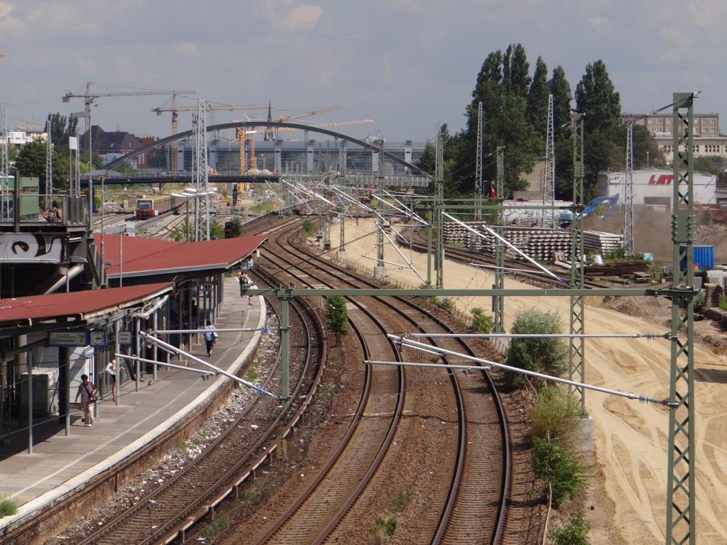 Fahrleitung Warschauer Straße