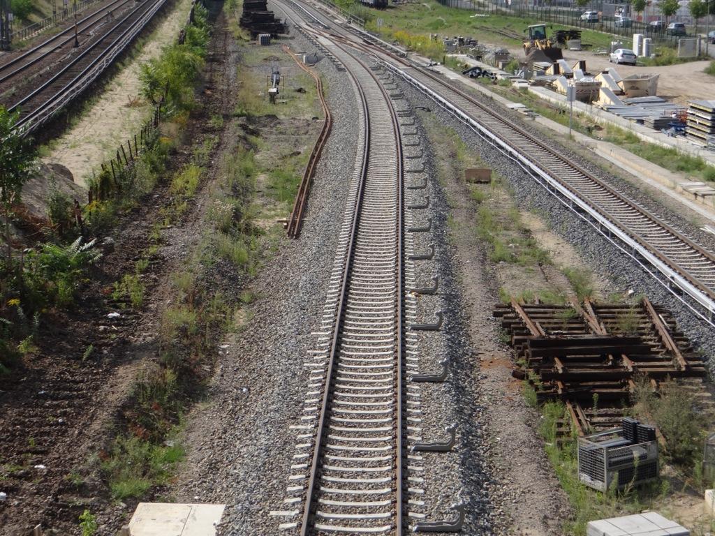 S-Bahngleis Stromschiene