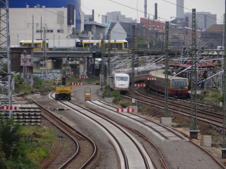 Gleisneubau Fernbahn Warschauer Straße