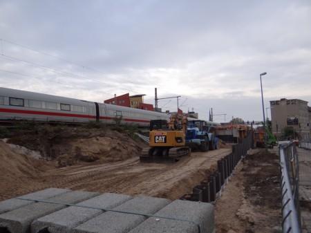 Aufschüttung Bahnsdamm