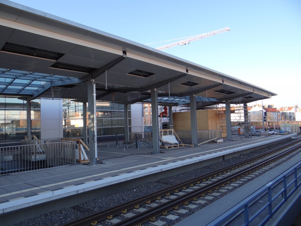 Der neue Bahnsteig Ro