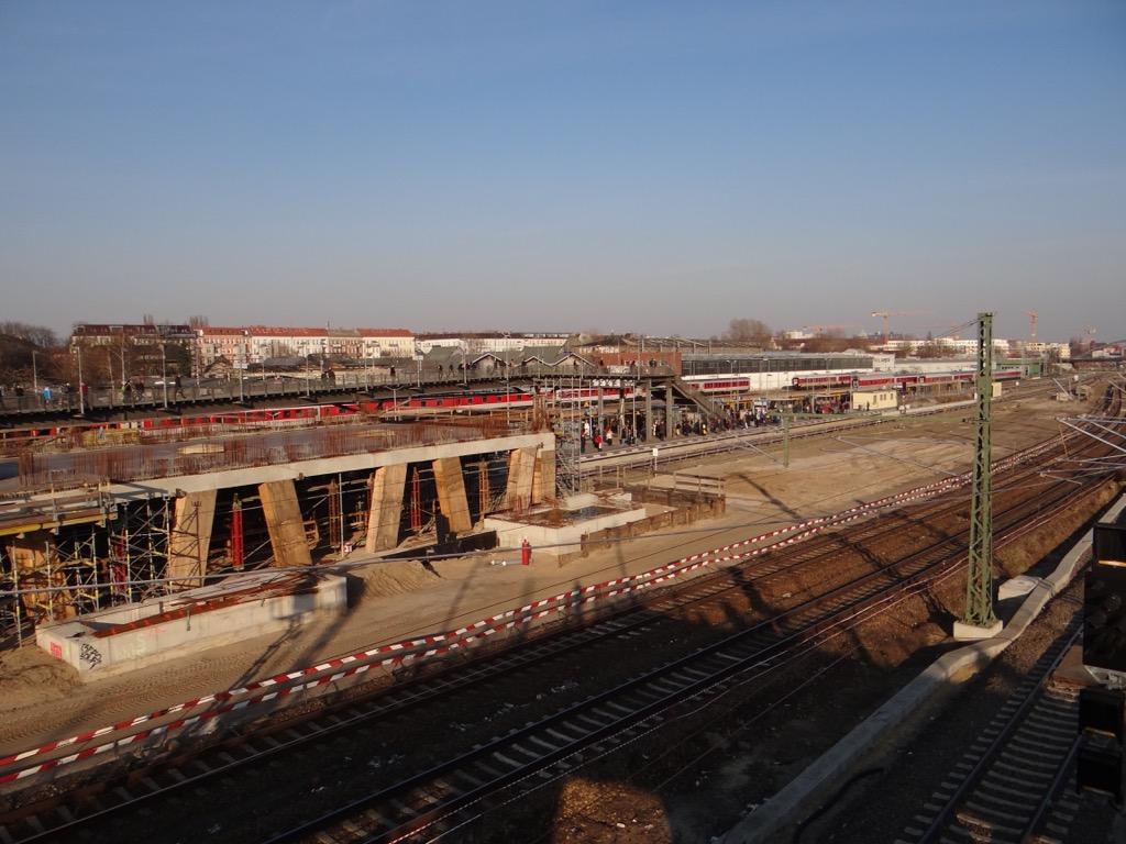 Baustelle Bahnsteig A Warschauer Straße