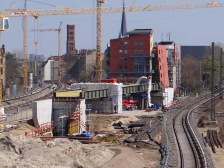Neue Brücke S3 am Ostkreuz