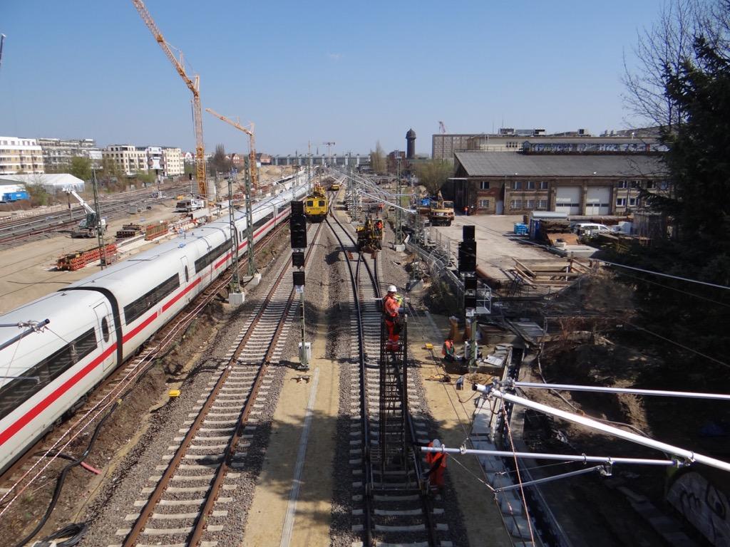 Neue Fernbahngleise Ostkreuz