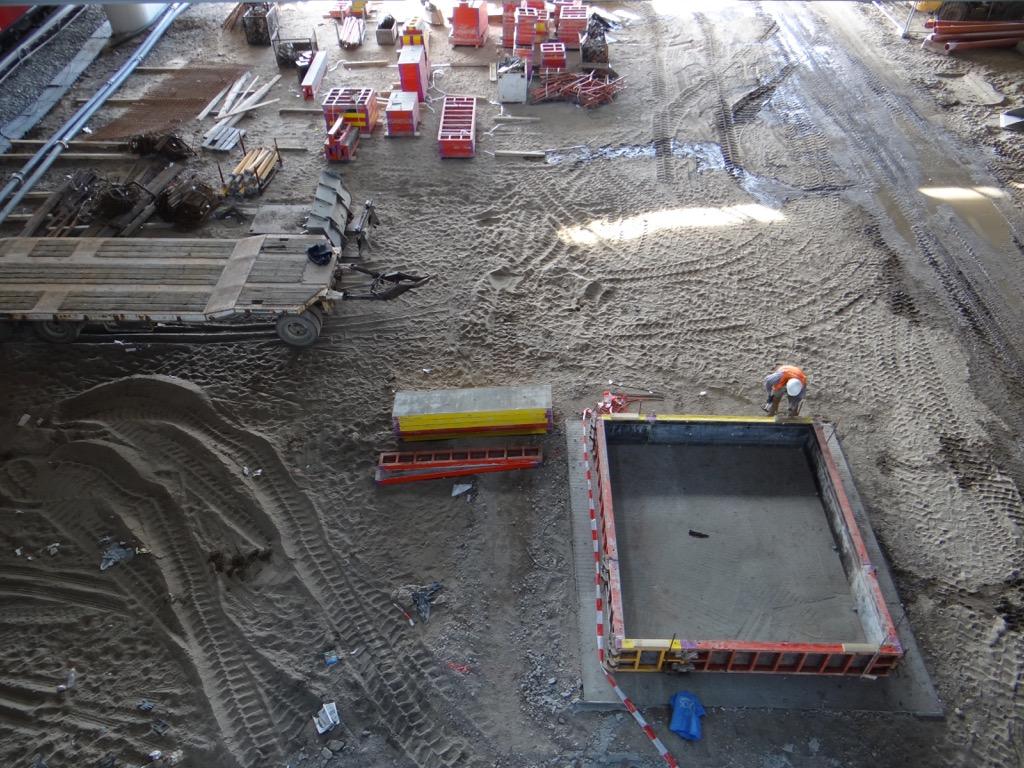 Baubeginn Bahnsteig E am Ostkreuz