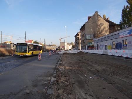 Baustelle Hauptstraße Ostkreuz